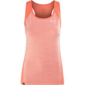 SALEWA Pedroc 2 Dry Mouwloos Shirt Dames, hot coral melange/1840